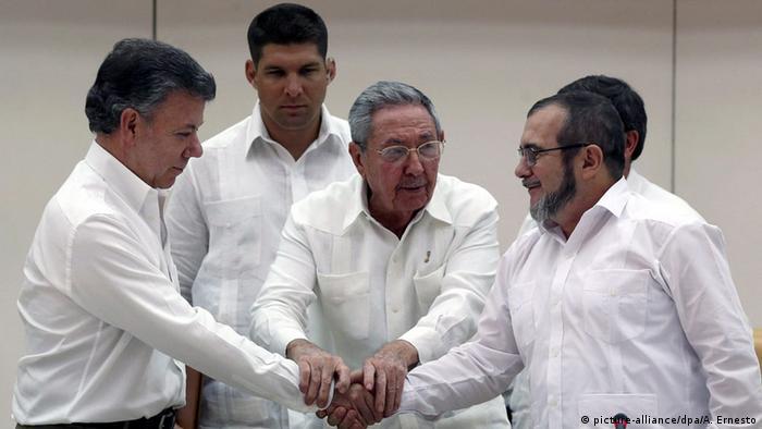 Regierung Kolumbiens hat sich mit den linken Farc-Rebellen geeinigt