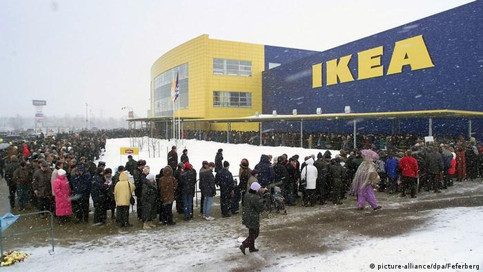 The opening of IKEA in Moscow