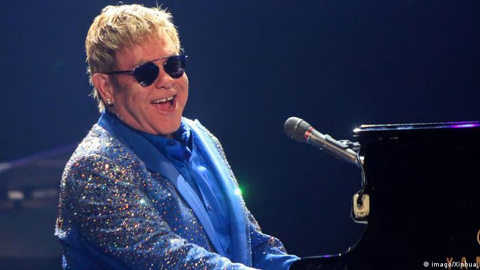 Singer Elton John performs at the Rock In Rio Music Festival in Rio de Janeiro, Brazil, on Sept. 20, 2015 (Photo: Luciano Belford/Frame/Estadao Conteudo/AGENCIA ESTADO)(zhf) BRAZIL-RIO DE)