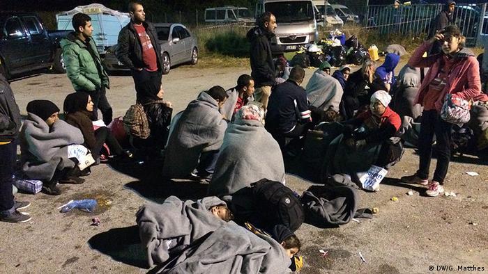 Izbjeglice u prihvatnom centru Opatovac