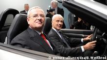 Deutschland VW-Skandal Martin Winterkorn mit Matthias Müller