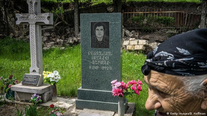 Un soldado armenio fallecido en el conflicto.