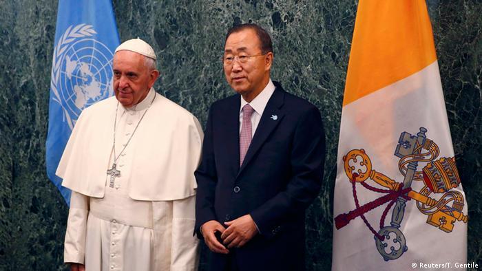 Папа римский Франциск и Пан Ги Мун