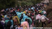Kroatien Bapska Flüchtlingslager Erstaufnahmeeinrichtung