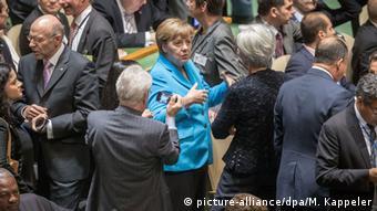 Papst Franziskus UN Rede Ankunft Angela Merkel
