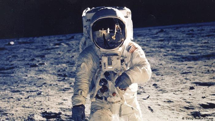 O astronauta Buzz Aldrin, um dos primeiros humanos na Lua