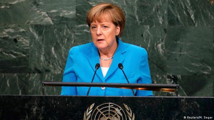 German Chancellor Angela Merkel at the UN in New York (Photo: Reuters)