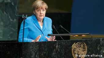 Merkel vor der UN-Vollversammlung