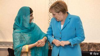 Kanzlerin Merkel und Friedensnobelpreisträgerin Malala