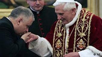 Lech Kaczynski beim Papst