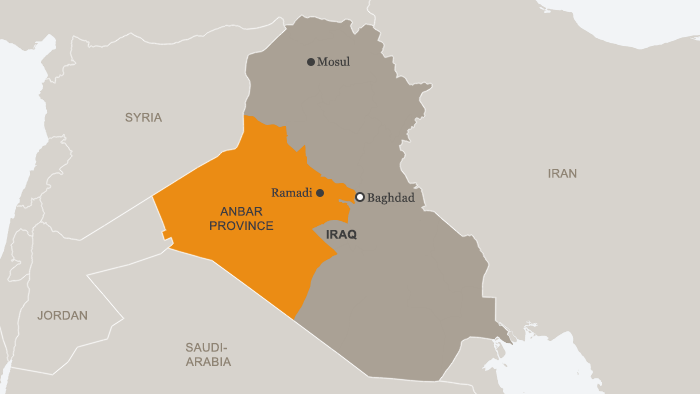 Map of Anbar province