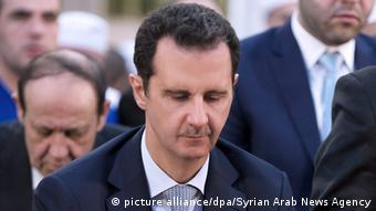 Syrien Präsident Bashar al-Assad (picture alliance/dpa/Syrian Arab News Agency)