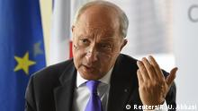 26.09.2015 *** French Foreign Minister Laurent Fabius speaks during a news conference ahead of the United Nations General Assembly in Manhattan, New York September 26, 2015. REUTERS/Rashid Umar Abbasi