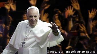 Papst Franziskus Katholiken Tag USA Pennsylvania Auftritt