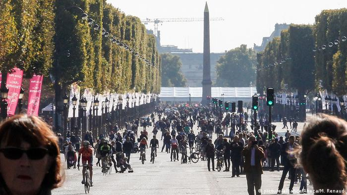 Bildergalerie Paris Frankreich Autofreier Sonntag Autofrei