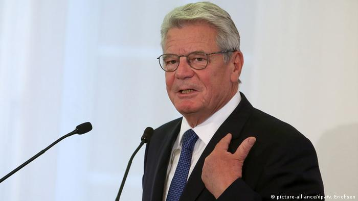 Bundespräsident Joachim Gauck (Archivbild vom September: dpa)