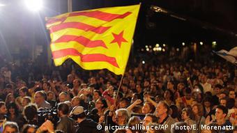Katalonien Barcelona Regionalwahl Unabhängigkeitsflagge