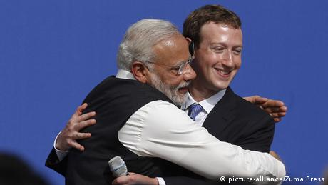 USA Narendra Modi und Mark Zuckerberg (picture-alliance/Zuma Press)