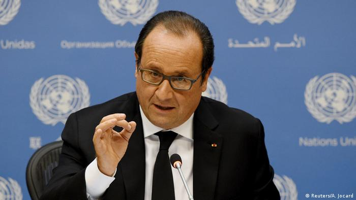 USA Francois Hollande PK Vereinte Nationen