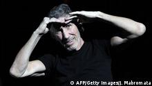 British musician Roger Waters, founding member of former rock band Pink Floyd, performs on stage during the first of nine concerts in Buenos Aires on March 7, 2012 in his 'The Wall Live' world tour. AFP PHOTO / Juan Mabromata (Photo credit should read JUAN MABROMATA/AFP/Getty Images)