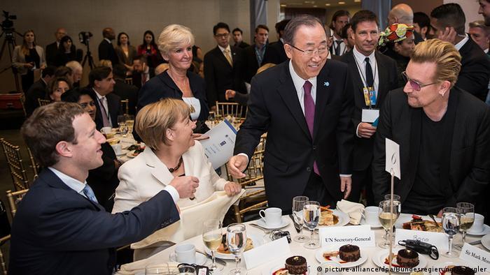 UNO New York Angela Merkel & Ban Ki-moon & Bono