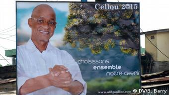 A poster for opposition candidate Cellou Dalein Diallo