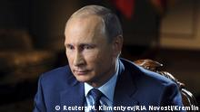 Russland Putin TV Interview Militär Syrien
