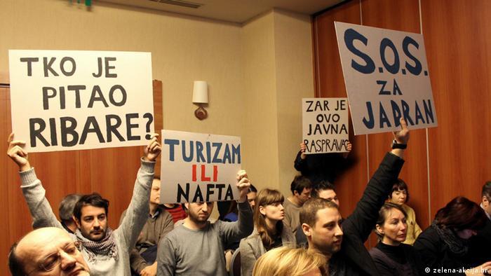 Kroatien Protest gegen Ölförderung in der Adria