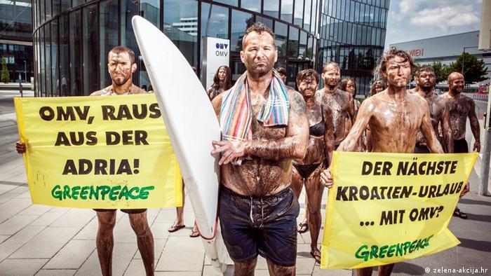 Prosvjed u Beču protiv vađenja nafte na Jadranu