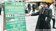 Lenin Lookalike Wechselkurs Tafel Geldwechsel Wechselstube 1998 Russland