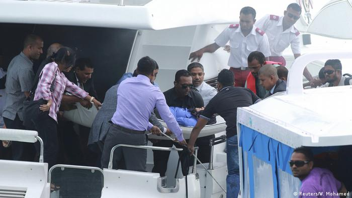 Officials respond after the speedboat explosion