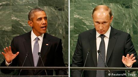 Bildkombo UN Generalversammlung Russland USA Wladimir Putin Barack Obama