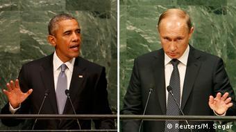 Rais wa Marekani Barack Obama na wa Urusi Vladimir Putin wana msimamo tofauti kumhusu Assad