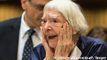 28.09.2015+++ epaselect epa04954077 Veteran Russian human rights defender Ludmilla Alexeeva reacts after winning the third Vaclav Havel Human Rights Prize in the Council of Europe in Strasbourg, France, 28 September 2015. Ludmilla Alexeeva, now aged 88, is a veteran human rights defender in her native Russia. In her youth, she gave up a promising academic career to join the Soviet dissident movement, going on to become a founding member of the Moscow Helsinki Group. Forced to emigrate to the US in 1977, she returned to Russia in 1989 to continue her work, becoming President of the International Helsinki Foundation. EPA/PATRICK SEEGER