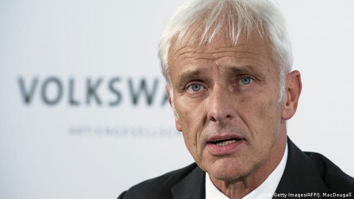 Deutschland VW Konzernchef Matthias Müller
