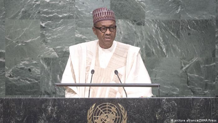 Nigerian President Muhammadu Buhari addresses the UN General Assembly in 2015
