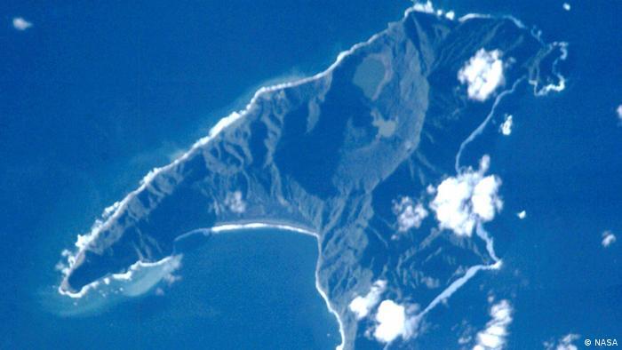 Satellitenbild von Raoul Island, Kermadecinseln, Neuseeland