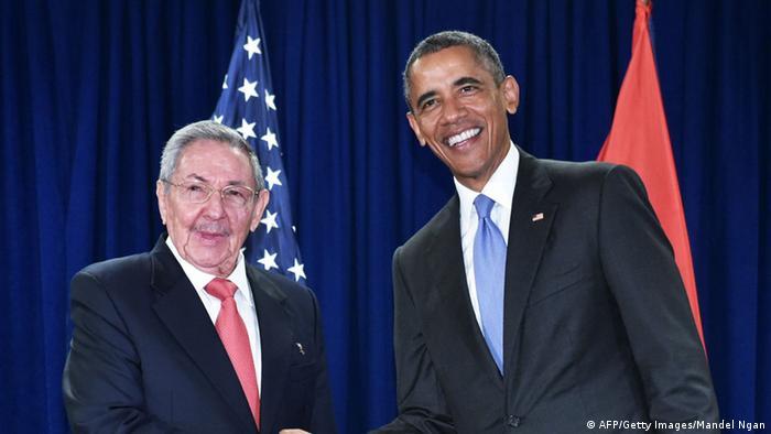 US-Präsident Obama und kubanischer Präsident Castro