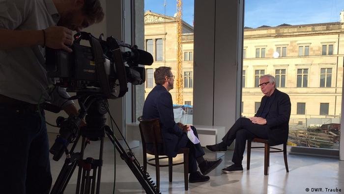Rainer Traube interviewing David Chipperfield in Berlin, Copyright: Rainer Traube