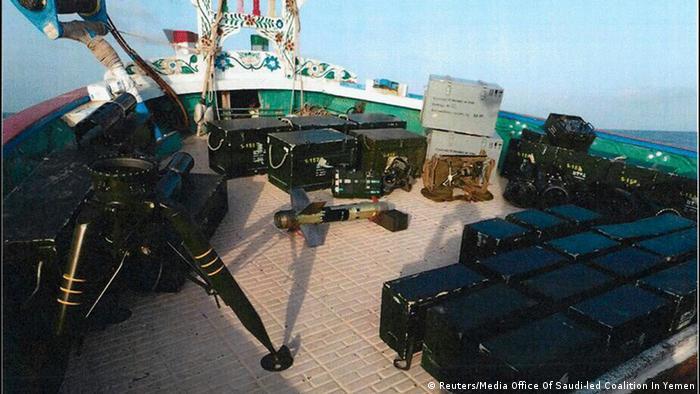 تصویری که خبرگزاری رسمی عربستان سعودی از قایق توقیف شده منتشر کرده است