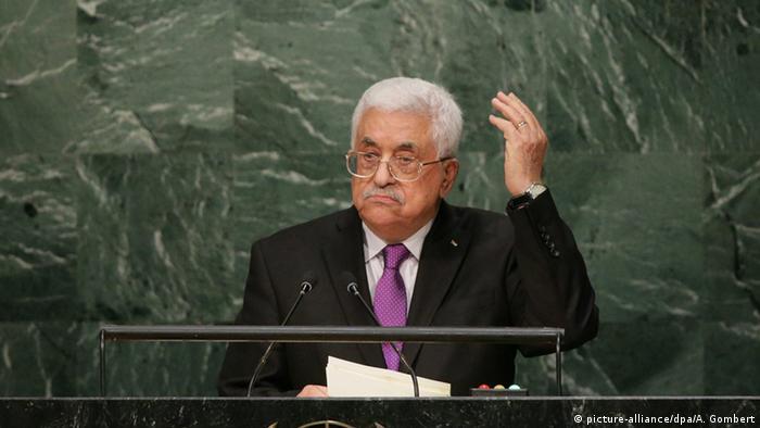 New York UN Gipfel Palästinensischer Präsident Mahmoud Abbas