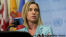 USA UN PK Mogherini Treffen Nahost-Quartett in New York