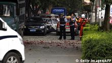 China Explosion in Liuzhou, Liucheng, Guangxi