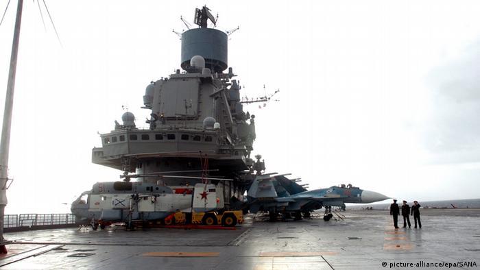 Syrien Tartus Hafen russische Flotte (picture-alliance/epa/SANA)