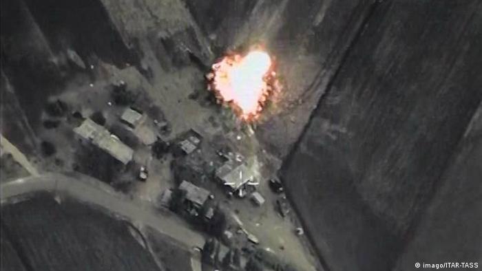 """俄罗斯空军空袭叙利亚""""伊斯兰国""""目标"""