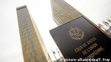 ARCHIV - Das Foto vom 26.01.2012 zeigt die beiden Türme des Europäischen Gerichtshofs (EuGH) in Luxemburg. Im Streit um die Einführung einer Finanztransaktionssteuer in Europa soll heute am Europäischen Gerichtshof in Luxemburg das Urteil gesprochen werden. Foto: Thomas Frey/dpa (zu dpa vom 30.04.2014) +++(c) dpa - Bildfunk+++