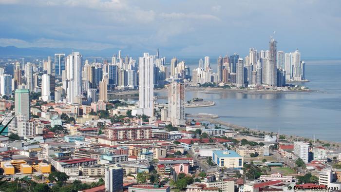 Panama, Ansicht der Stadt Panama von Ancon Hill