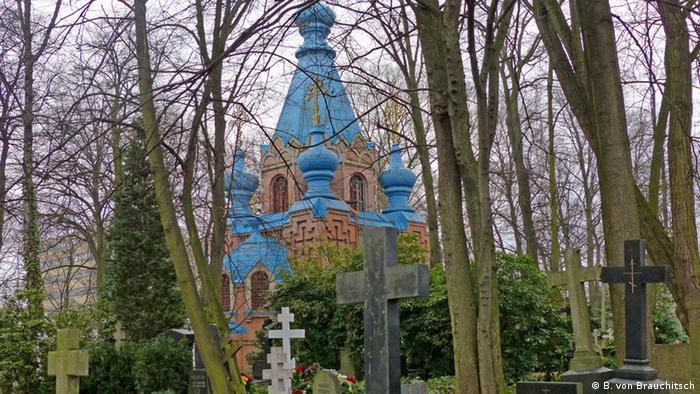 Berliner Friedhofsszene russisch orthodoxer Friedhof