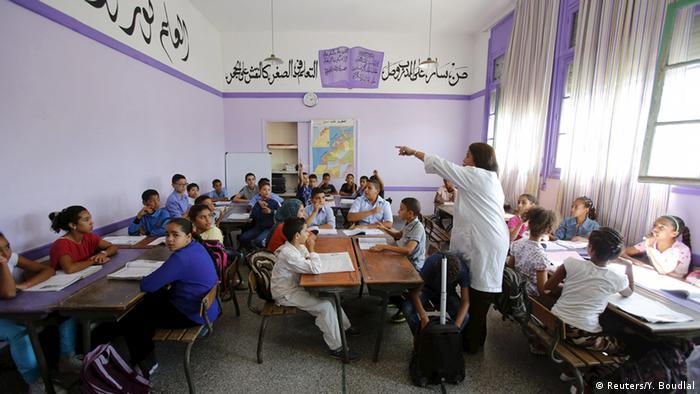 Lila Klassenzimmer in Rabat (Foto: REUTERS/Youssef)