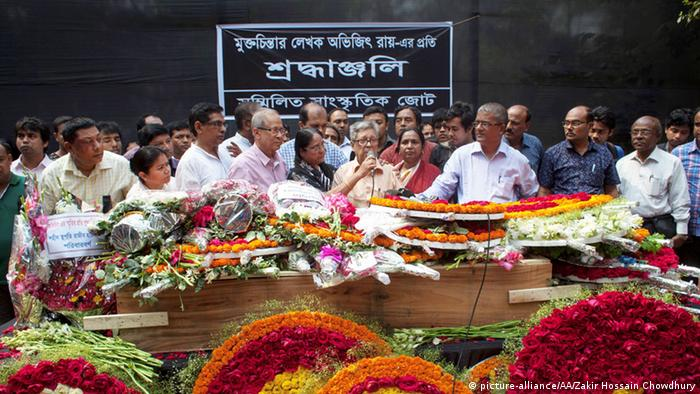 Beerdigung des bengalischem Bloggers Avijit Roy